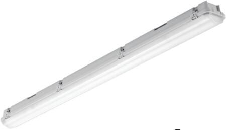 Solar Light pro waterdicht led arm. 32W 4000lm 4000K PE bak met acrylaat kap en rvs clips, 3-fasen DVB 5x2,5mm IP65/IK03 1,2M