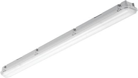 Solar Light pro waterdicht led arm. 48W 6000lm 4000K PE bak met acrylaat kap en rvs clips, 3-fasen DVB 5x2,5mm IP65/IK03 1,5M