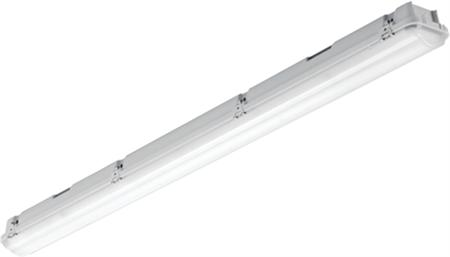 Solar Light pro waterdicht led arm. 32W 4000lm 4000K DALI PE bak met acrylaat kap en rvs clips, 3-fasen DVB 5x2,5mm IP65/IK03 1,2M