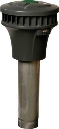 Zehnder RPMe dakventilator gelijkstroom, 50Pa: 250m3h, 230V, 0.1kW, 0.4A, aansluitklem, horizontaal, 49dB, hoogte 761mm, dia 125mm
