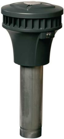 Zehnder RPM 19/24 pijpventilator paddenstoel, kunststof/aluminium Al99.5, 230V, 50Hz, 0,053kW, Qmax 0,424kW/(m3/s), 0,23A, snoer
