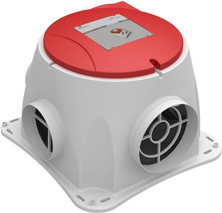 Zehnder ComfoFan S P energiezuinige woonhuisventilator met Perilex steker, 350m3/h