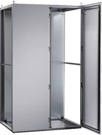 Rittal, TS 8 Aanbouwkast, met 2 deuren voor en montageplaat, 1200x2000x500 mm BxHxD, plaatstaal, RAL 7035